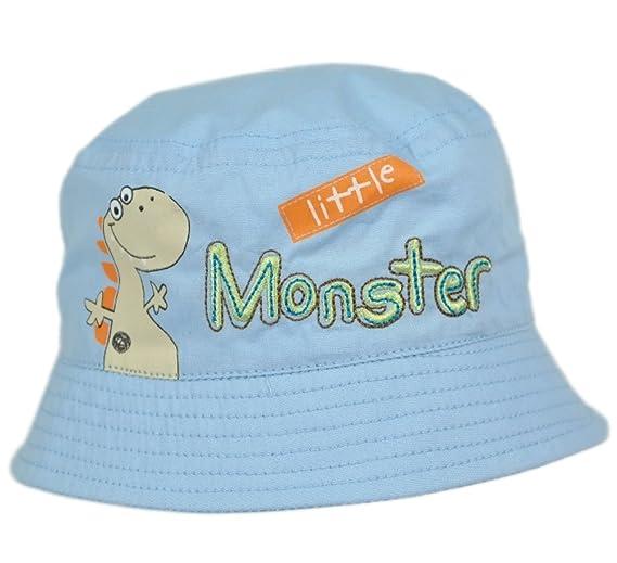 TeddyTs Baby Boys Stripy Blue Nautical Bucket Summer Sun Hat