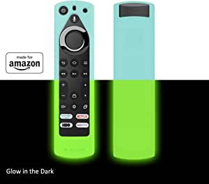 All New, Made for Amazon Remote Cover Case, for Fire TV Edition Alexa Voice Remote - Glow in the Dark