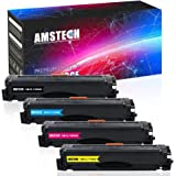 Amstech 4 Pack Inks Toner Cartridges Compatible for Samsung CLT-504 CLT-K504S CLT-M504S CLT-504S 504 CLT-504S/ELS 504S CLT Y504 M504S C504S Samsung Xpress C1860FW 1860 SL-C1810W C1810 C1810W CLP 415 415N 415NW CLX 4195 CLX-4195N 4195FN 4195FW Colour Laser Printer Toner Set Magenta Yellow Cyan Black