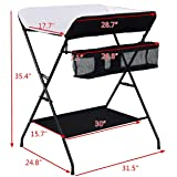 Costzon Baby Changing Table, Folding Diaper Station Nursery Organizer for Infant