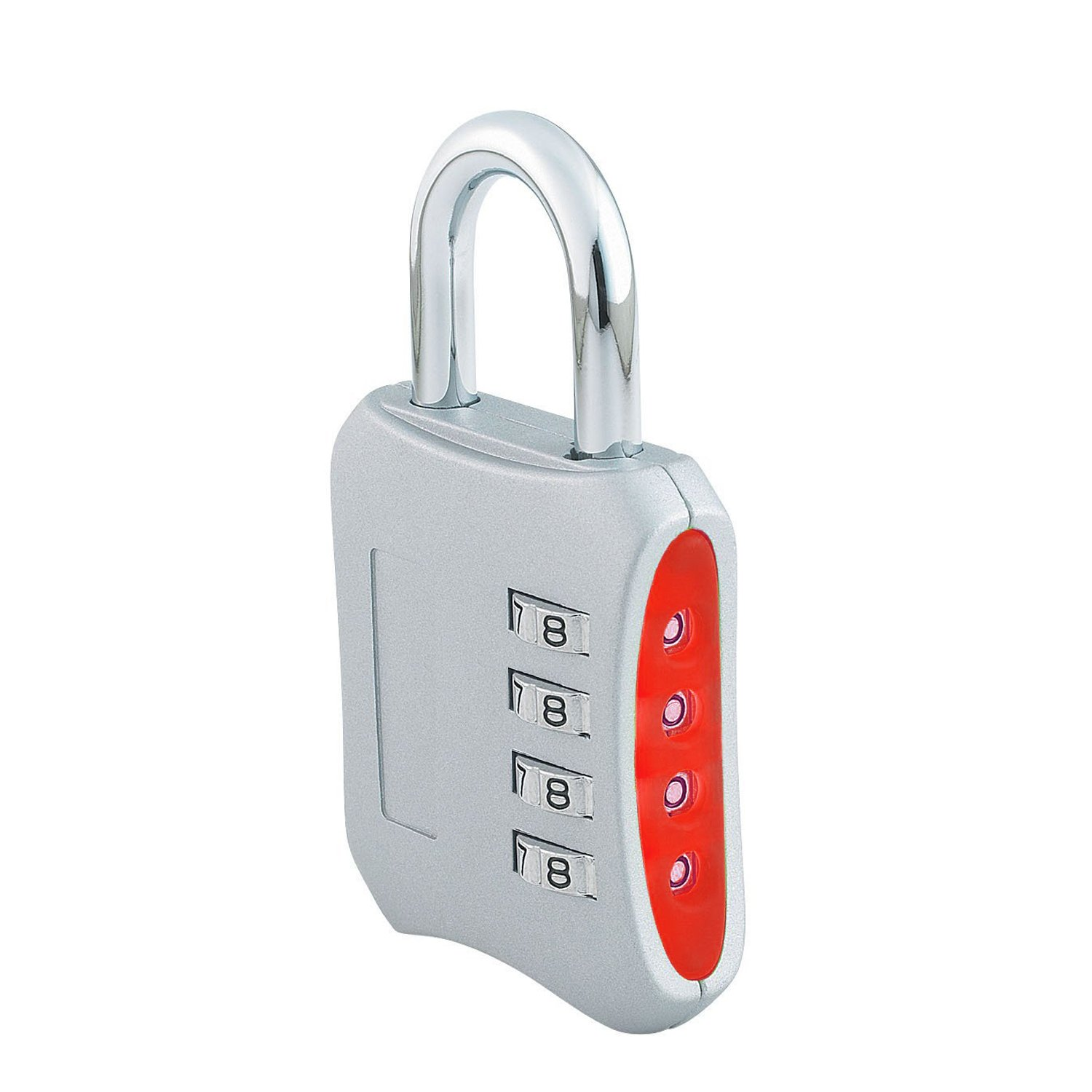 Combination Padlock 2-inch Gym Lock with 4 Digit Set-Your-Own-Combination (Silver) fxy