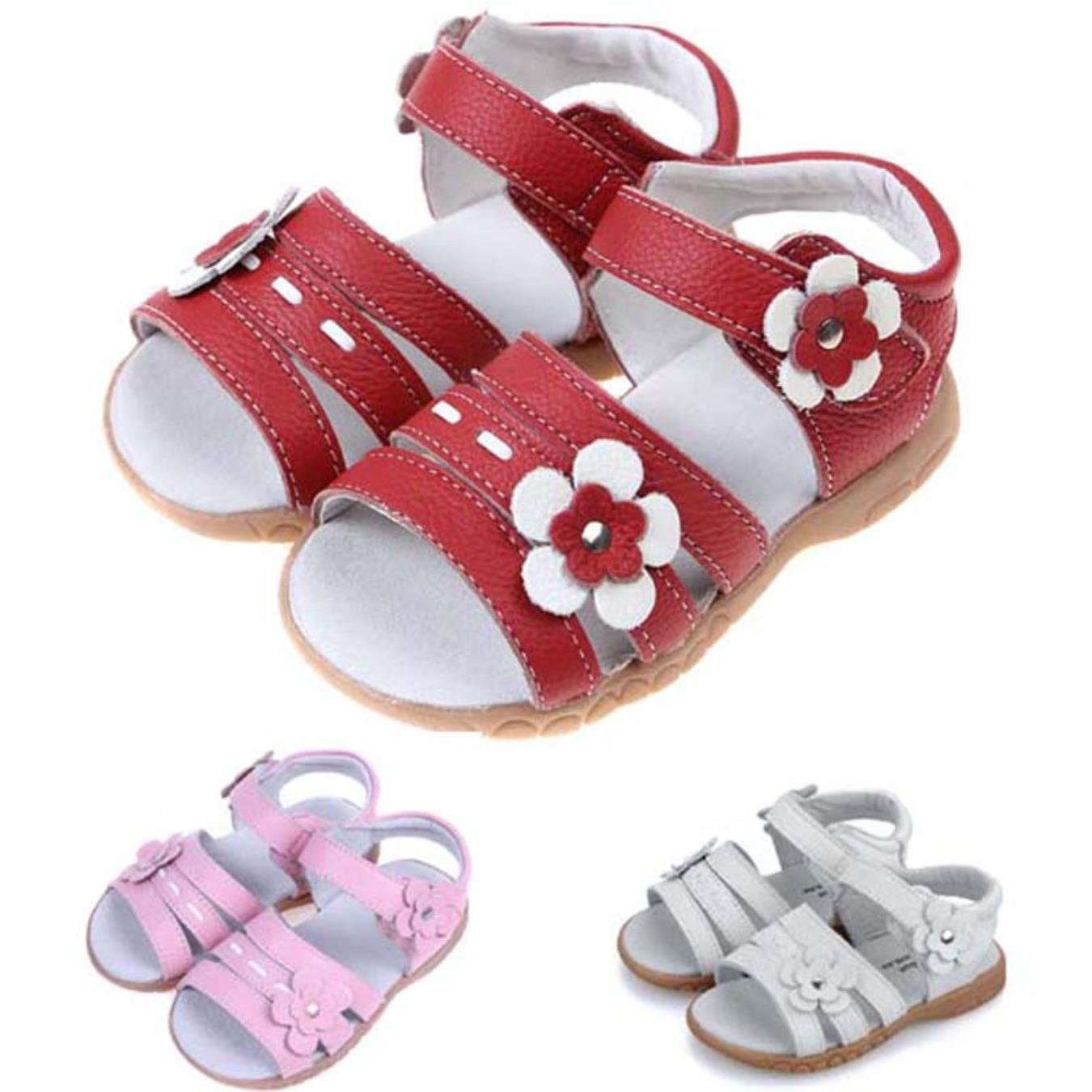 Summer Genuine Leather Sandals Girls Princess Shoes Breathable Baby Girls Sandals