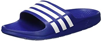 adidas Duramo Slide, Chanclas Unisex, Azul (New Navy/White/New Navy), 48.5 EU