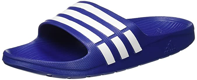 adidas Men's Duramo Slide True Blue and White Flip-Flops and House Slippers  - 8 UK/India (42 EU) (Duramo Slide): Buy Online at Low Prices in India -  Amazon. ...