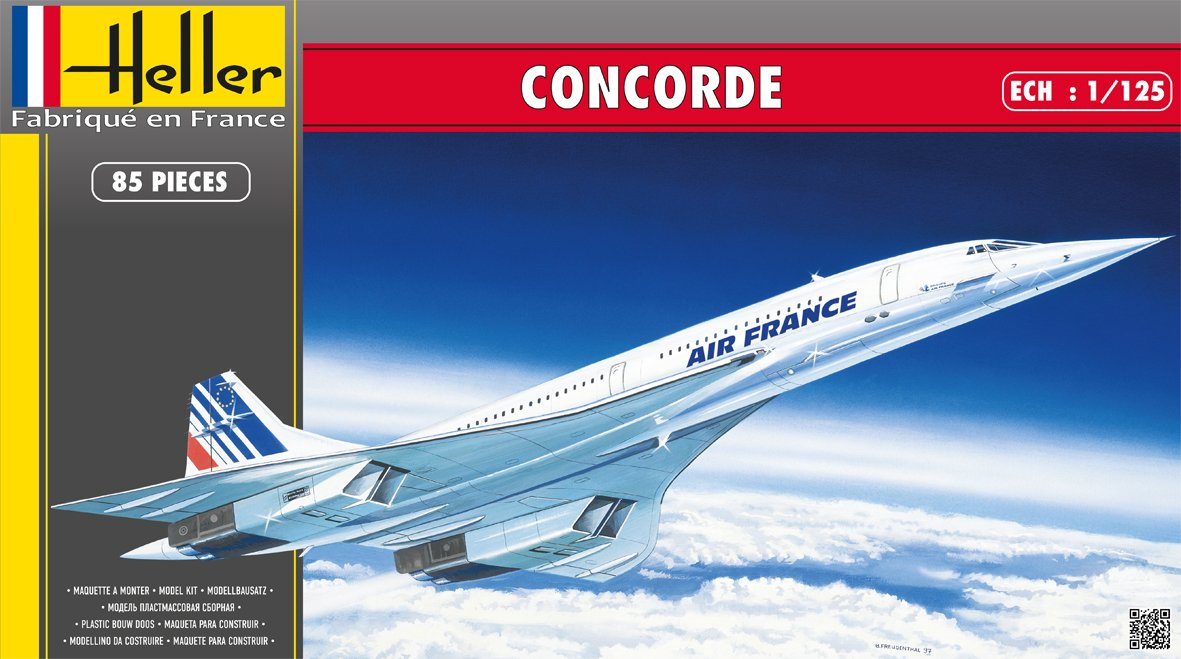 Heller Concorde Supersonic Airliner Airplane Model Building Kit