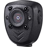 Wearable Body Mounted Camera,DEXILIO 1080P Mini Video Recorder with Night Vision, Small Camcorder for Home/Office/Law…