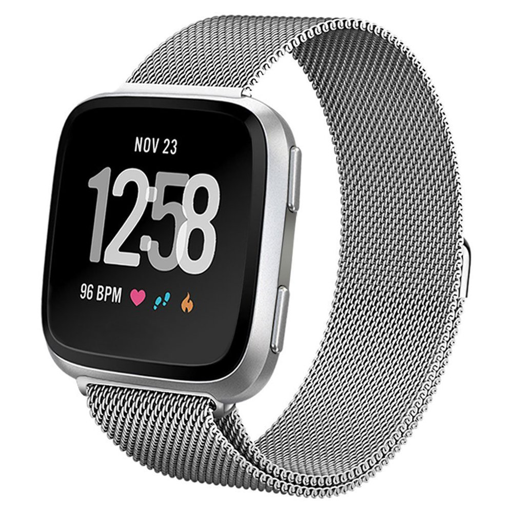Amazon.com: Fitbit Versa Smart Watch, Gray/Silver