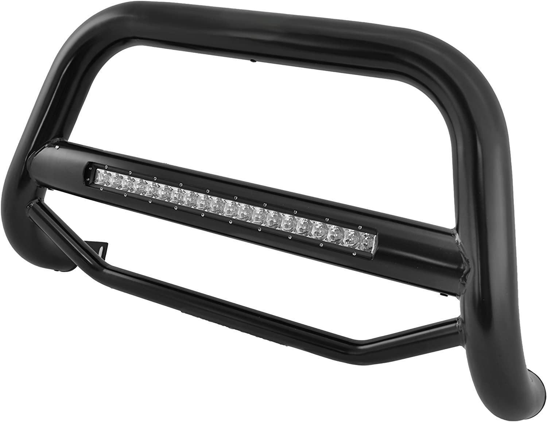 Black Horse Off Road MAB-JEB9206B Black Steel 1 Pieces No skid plate Bumper Push Bar Bull Bar