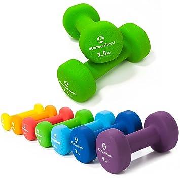 Pesas de neopreno »Peso« / Mancuernas disponibles en diferentes pesos y colores / 1,5 kg, verde