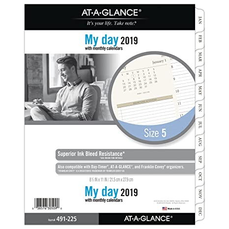 amazon com at a glance 2019 daily planner refill day runner 8 1