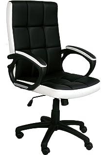 eliza tinsley furniture waffle medium back leather effect executive armchair black white
