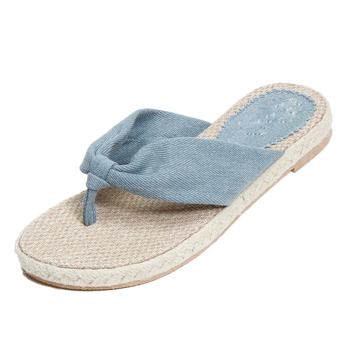 HBDLH-Damenschuhe HBDLH-Damenschuhe HBDLH-Damenschuhe Sommer Bettwäsche Jeans Schuhe Bettwäsche Lässig Weiblich Flip - Flops Flachen Boden. 6ebb8e
