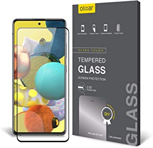 Olixar Screen Protector for Samsung Galaxy A51, Tempered Glass - Reliable Protection, Supports Device Features - Full Video Installation Guide