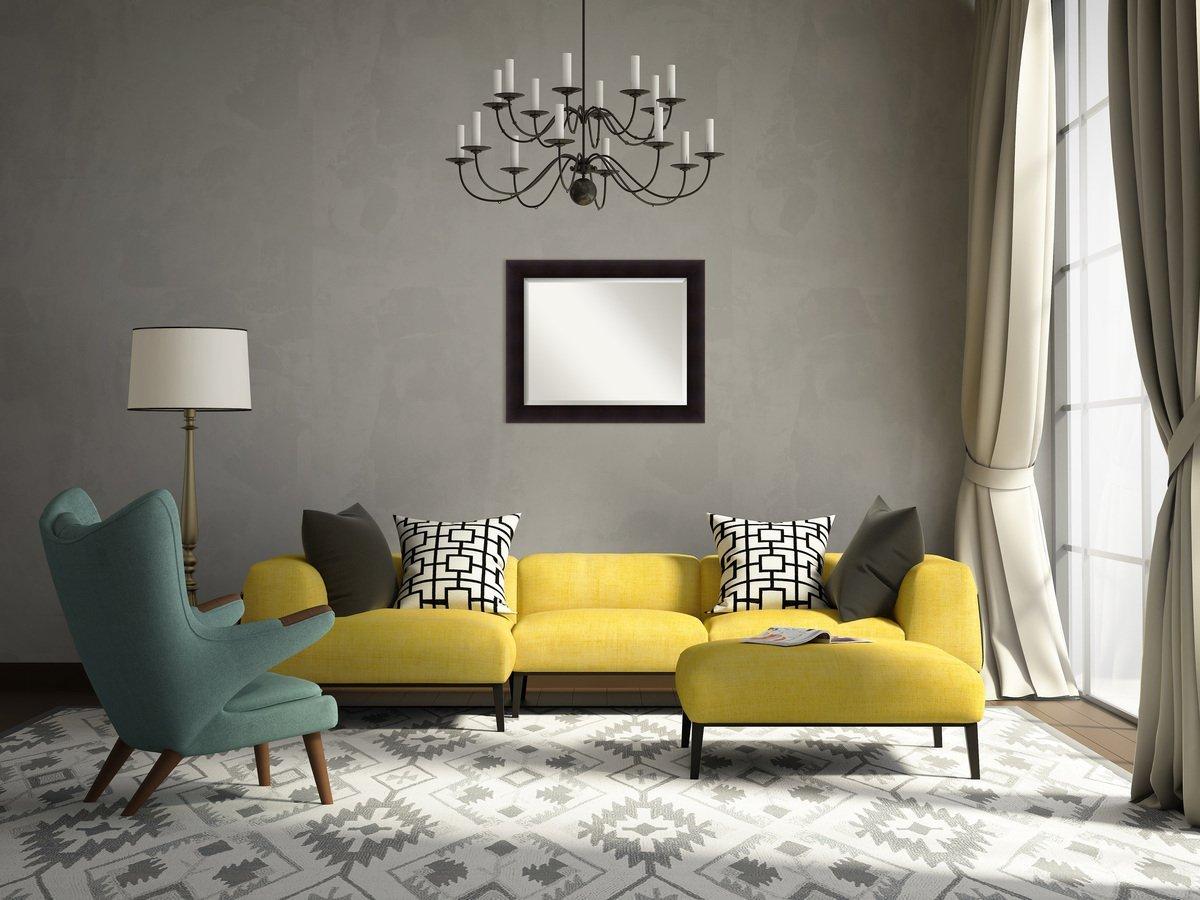 Amanti Art Wall Mirror Medium Large Outer Size 24 x 30 DSW4016409 Portico Espresso
