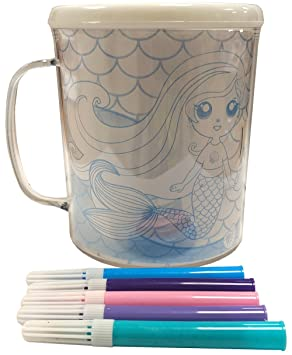 Hunter Price Childrens Craft Kit Colour Your Own Mug Colouring Cup