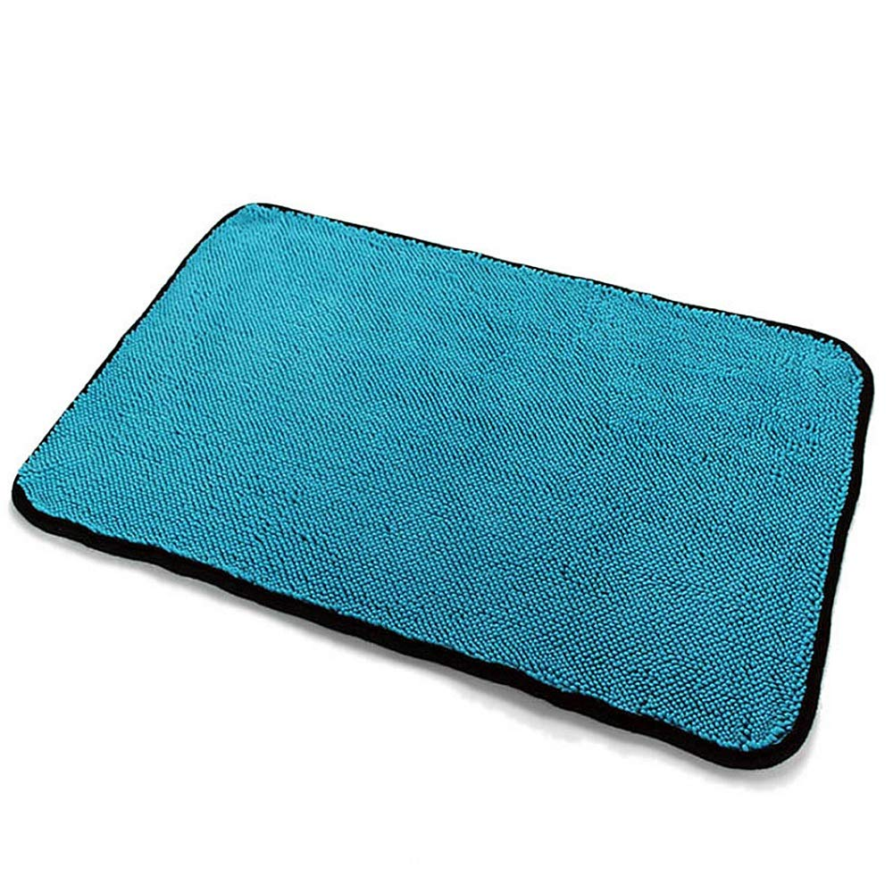 Sviper Car Washing Mitt Pack of 2 Large Dual Wash Car Washing Microfiber Chenille Towels Cloths Cleaning Tools Lint Scratch Free Blue Color Home Kitchen Cleaning Cloths Car Care Washing Tool