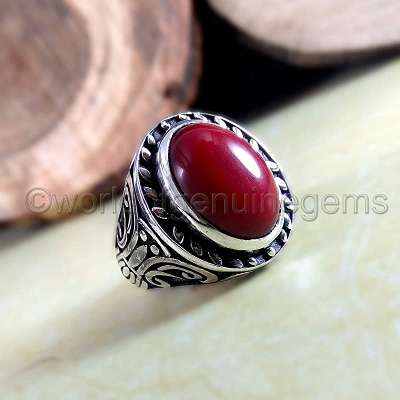 For Valentine/'s Day Beauty Accessories,Sliver Gemstone Cuff Gift For Her-Him Natural Red Coral Silver Handmade Jewelry Cuff For Men-Women