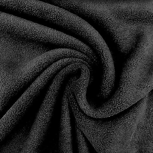 Tela polar algodón negro – por 50 cm: Amazon.es: Hogar