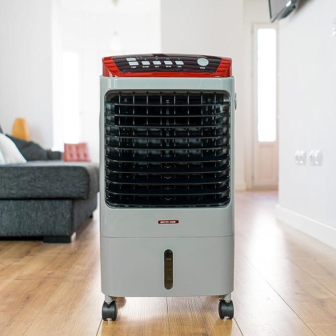 ECO-DE Climatizador Frio (70W) Calor (2Kw), portatil, Mando a Distancia, purificador, humidificador, Temporizador