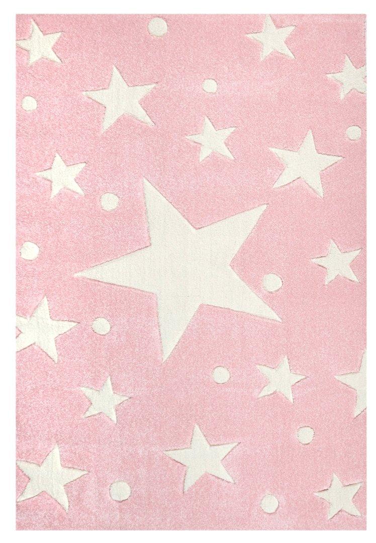 Livone Kinderteppich Happy Rugs Stars rosa rosa rosa weiß 80x150 cm 0f612c