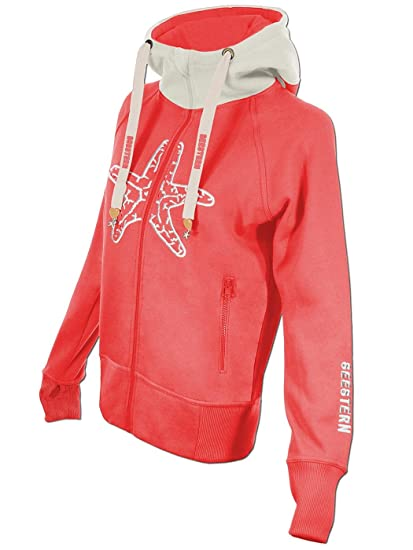 SEESTERN Damen Kapuzen Sweat Shirt Jacke Pullover Zip Hoody Sweater Gr.XS-XXL
