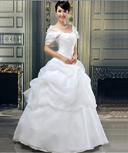 HU Moderno Vestido de Novia de Novia Dulce Y Elegante Princesa Qi Boda Novia Vestido de