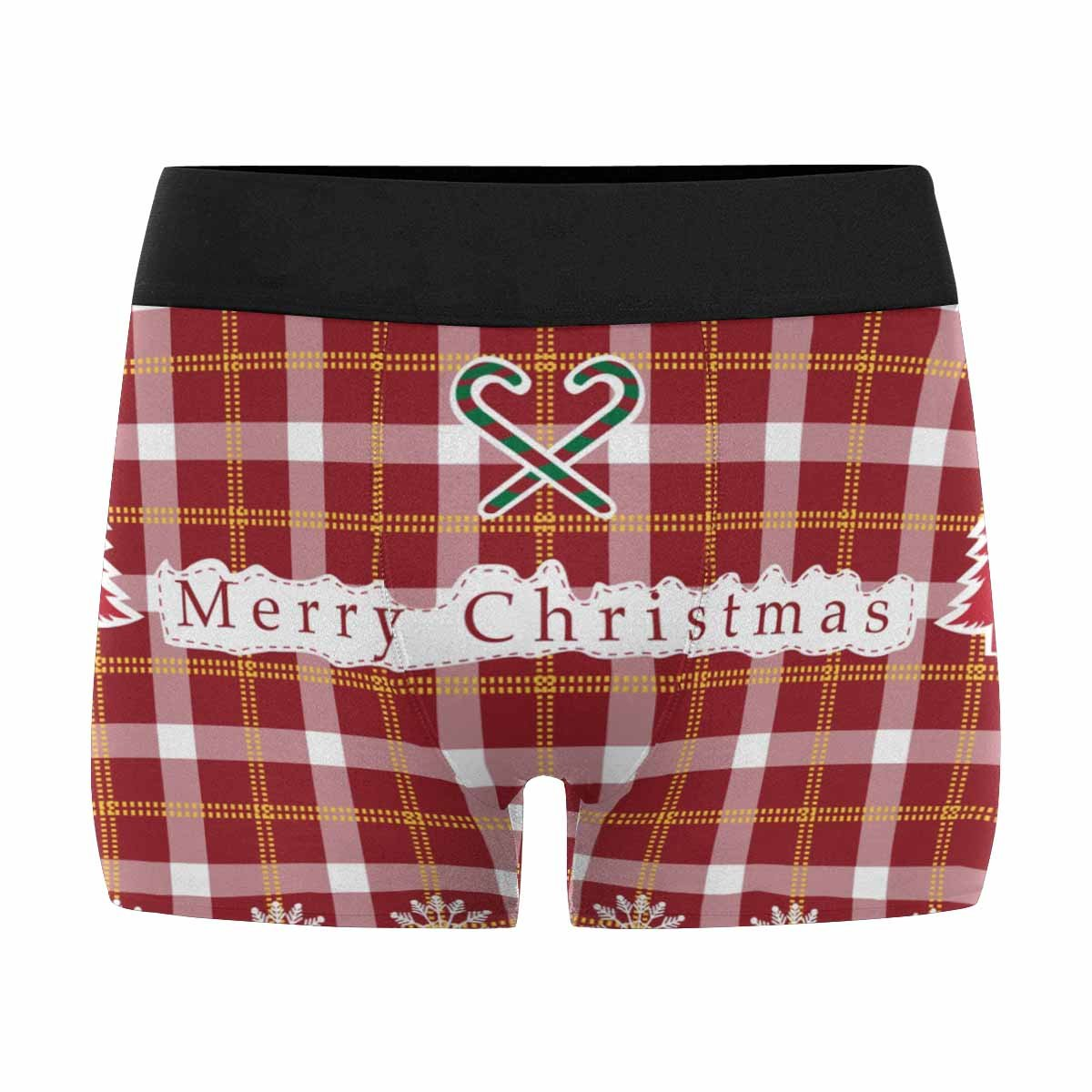 INTERESTPRINT Mens All-Over Print Boxer Briefs Christan Tartan Tartan Pattern XS-3XL