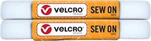 VELCRO Brand Sew on Tape 5ft x 3/4 in for Fabrics Clothing and Crafts, Substitute for Snaps and Buttons, Cut Strips to Length, White
