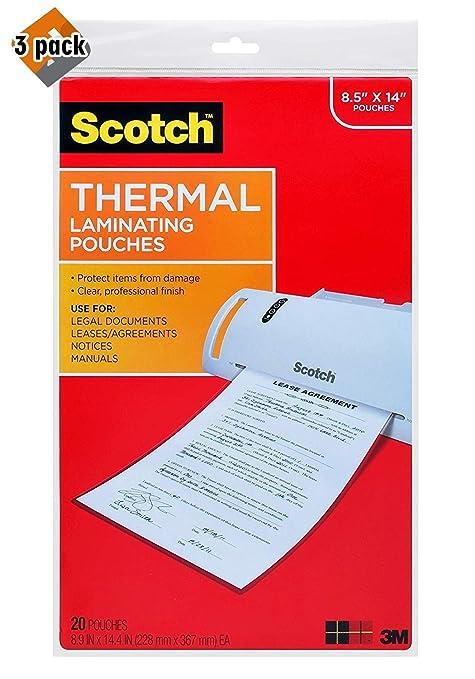 Amazon.com: cotch - Bolsas térmicas para plastificar, 8.5 x ...