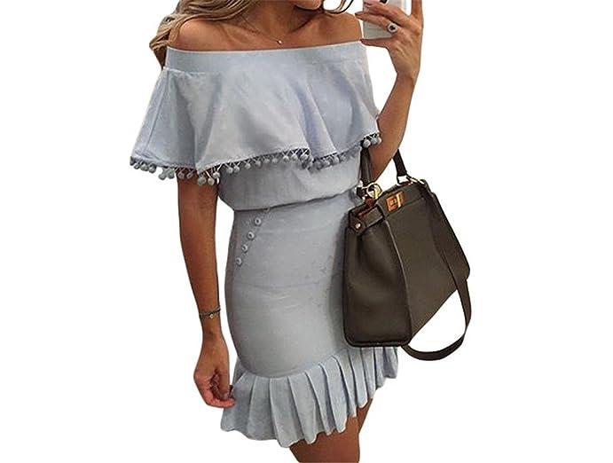 Twilaisaac Fashion sexy fora do ombro drapeado plissado vestidos de verão mulheres casuais vestidos de manga