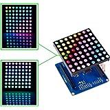 SunFounder Full Color RGB LED Matrix Driver Shield + RGB Matrix Screen for Arduino