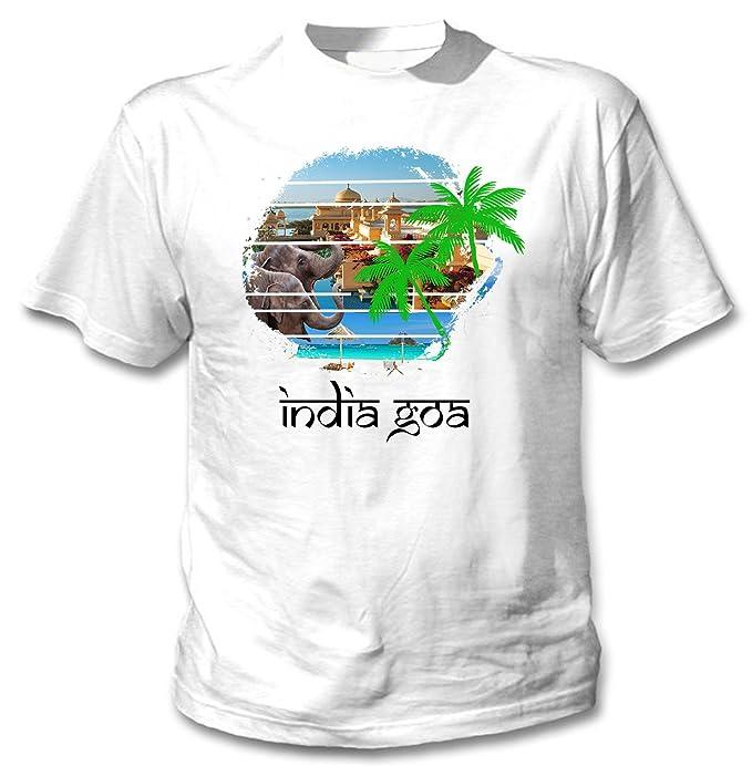 teesquare1st INDIA GOA Camiseta blanca para hombre de algodon: Amazon.es: Ropa y accesorios