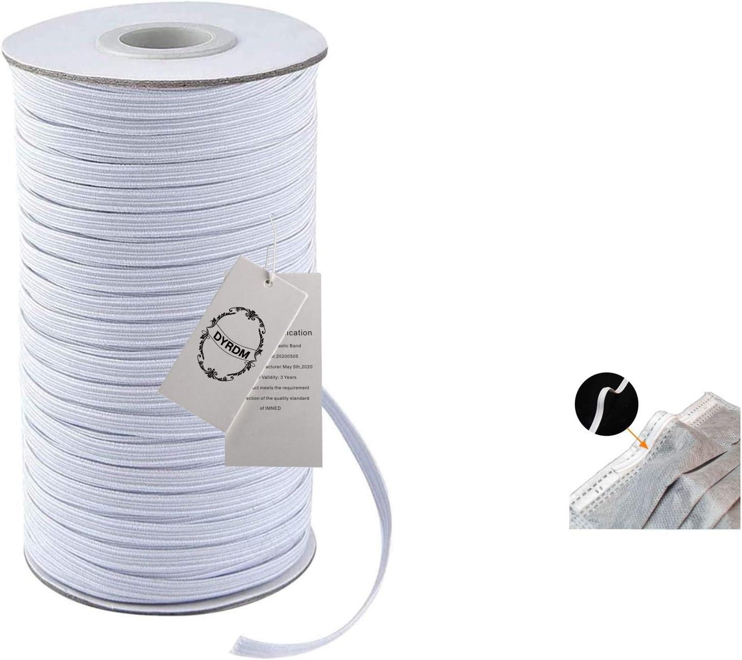 10 Yards Flat Braided Elastic Band Cord Knit String Sewing Bulk 3mm Face Shield