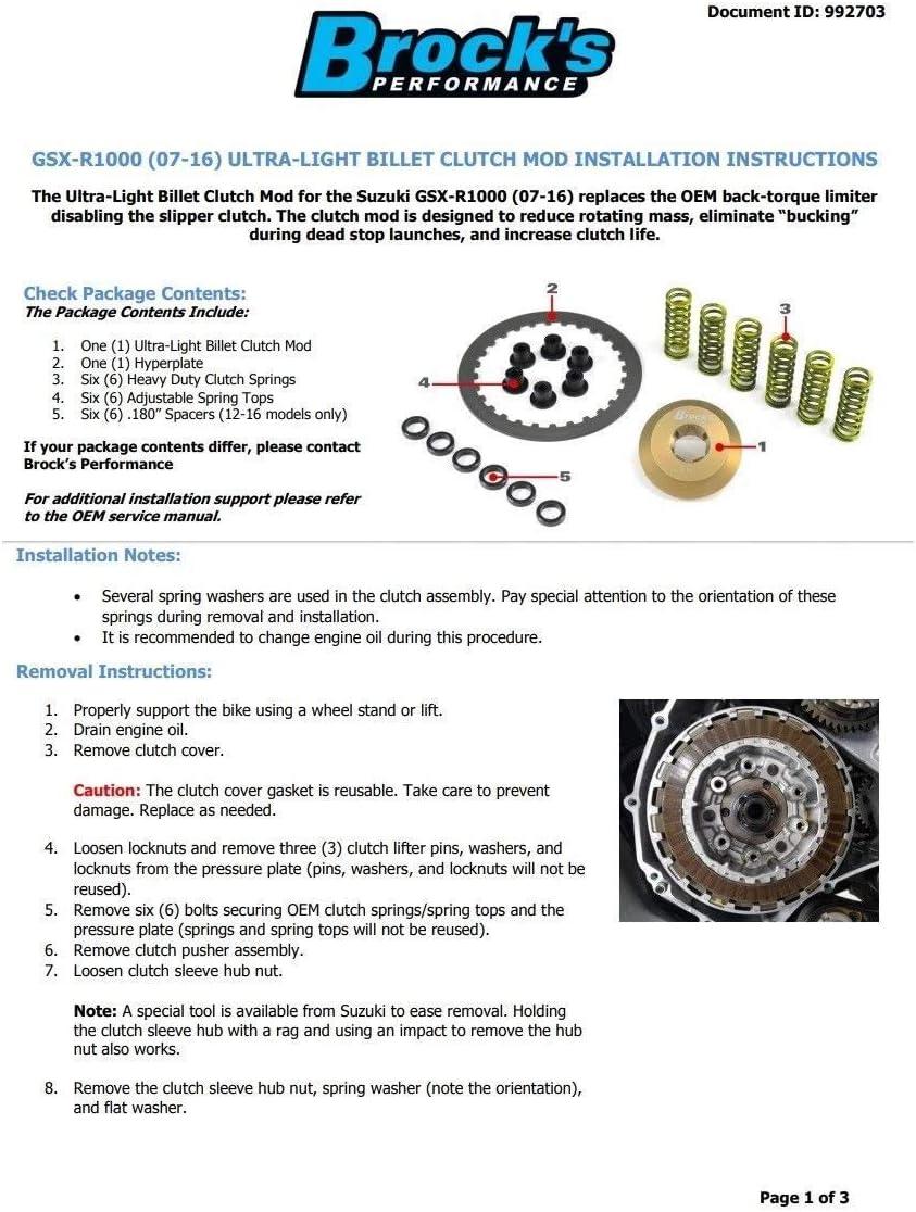 OEM Gasket 2008 2009 Suzuki 08-09 GSXR 750 Barnett Clutch Kit Complete