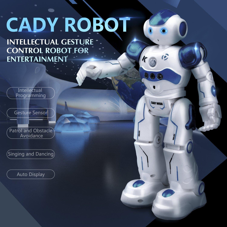 Kuman Robot de Juguete de Regalo a Control Remoto, Smart Robotics Camina Canta Baila Programables y Sensación de Gestos para el Entretenimiento de Los Niños ...
