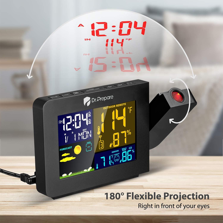 Amazon.com: Dr. Prepara la proyección del reloj despertador ...