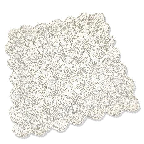 tidetex Vintage hecho a mano algodón toalla de ganchillo mantel pequeño sofá cuadrado para toalla diseño