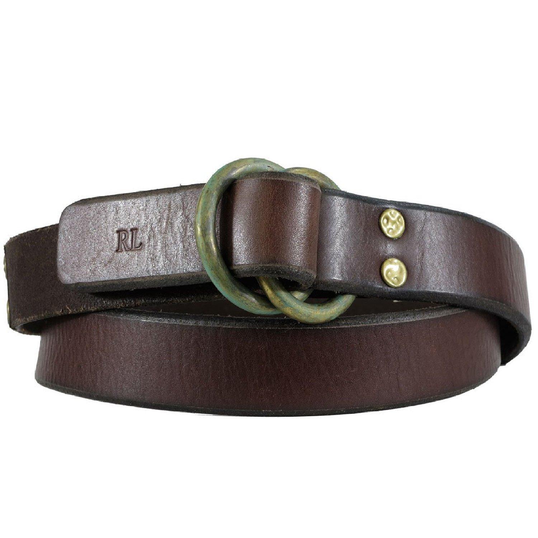 Polo Ralph Lauren cinturón tachonado de cuero para hombre - Marrón ...