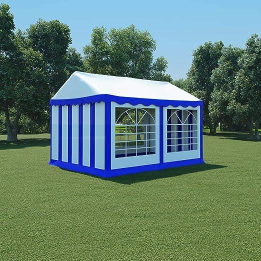 guyifuzhuangs Carpa de jardín de PVC 3x4 m Azul y blancoCasa y jardín Jardín Artículos de Exterior Estructuras de Exteriores Pabellones y cenadores: Amazon.es: Hogar