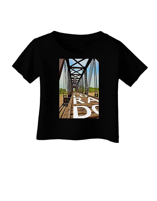 TooLoud Colorado Bridge Text Infant T-Shirt Dark