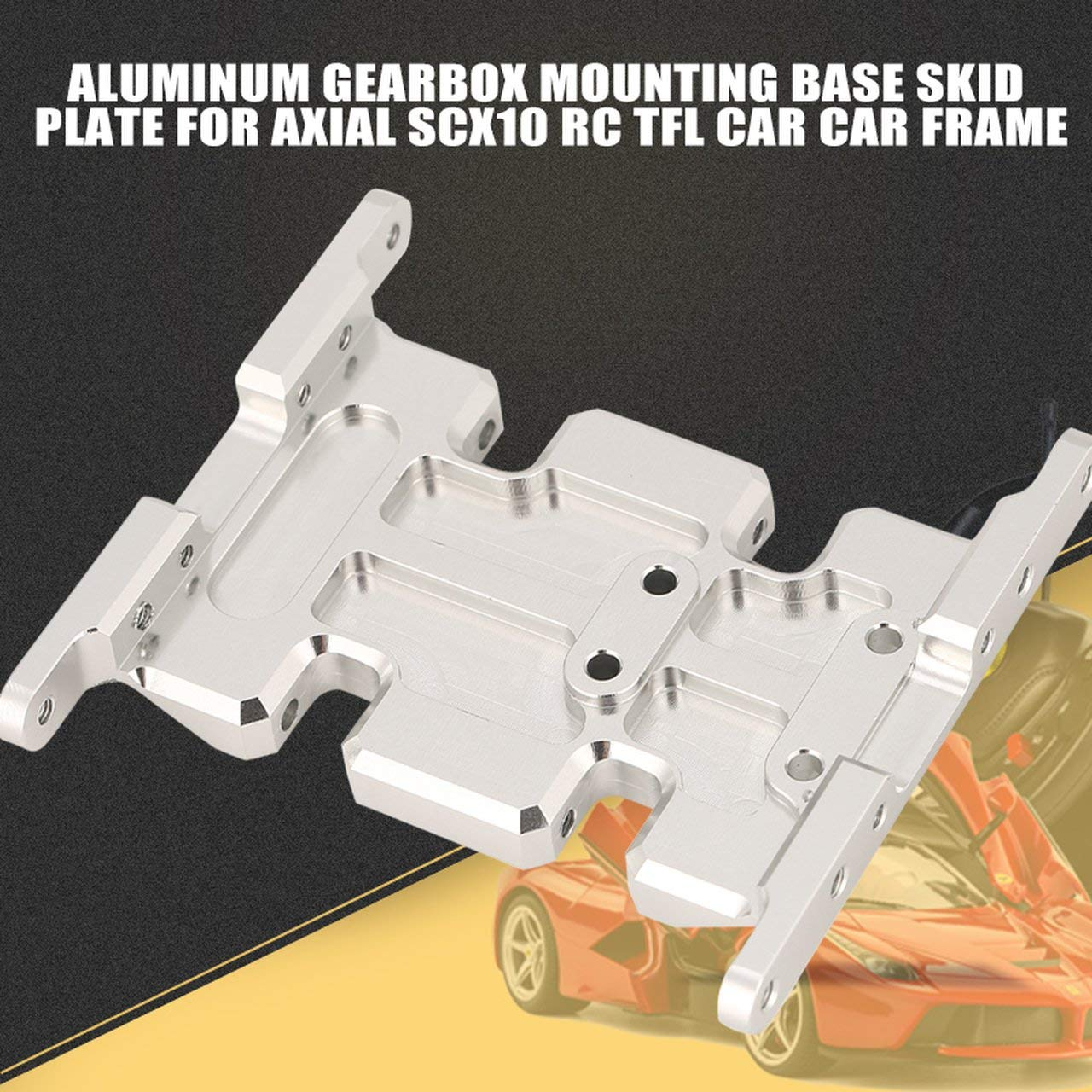 Jasnyfall Aluminum Gearbox Montage Base Skid Plate fü r Axial SCX10 RC TFL Auto Car Frame - Silber
