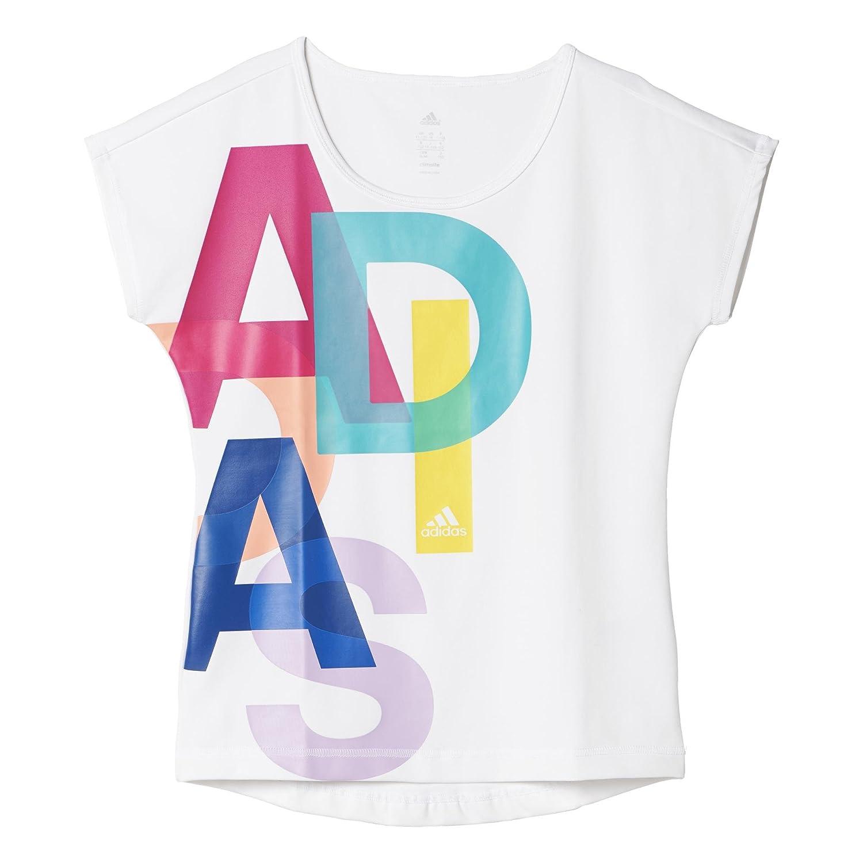 adidas Mädchen T shirt YG WF LOGO TEE