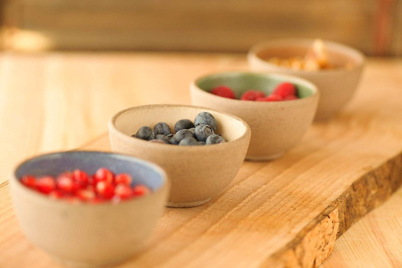 Amazon.com: Colorful Ceramic Small Bowl, Set Of 4 Bowls ...