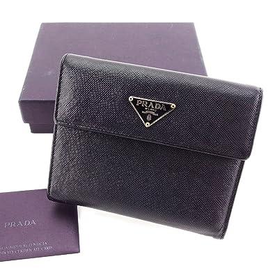 112a11dfa58c (プラダ) PRADA 三つ折り 財布 二つ折り 財布 レディース メンズ 可 M170A ロゴプレート