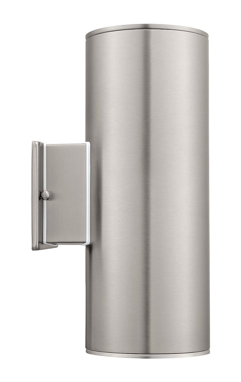 eglo lighting usa. eglo 90121a ascoli wall light, stainless steel - porch lights amazon.com lighting usa i