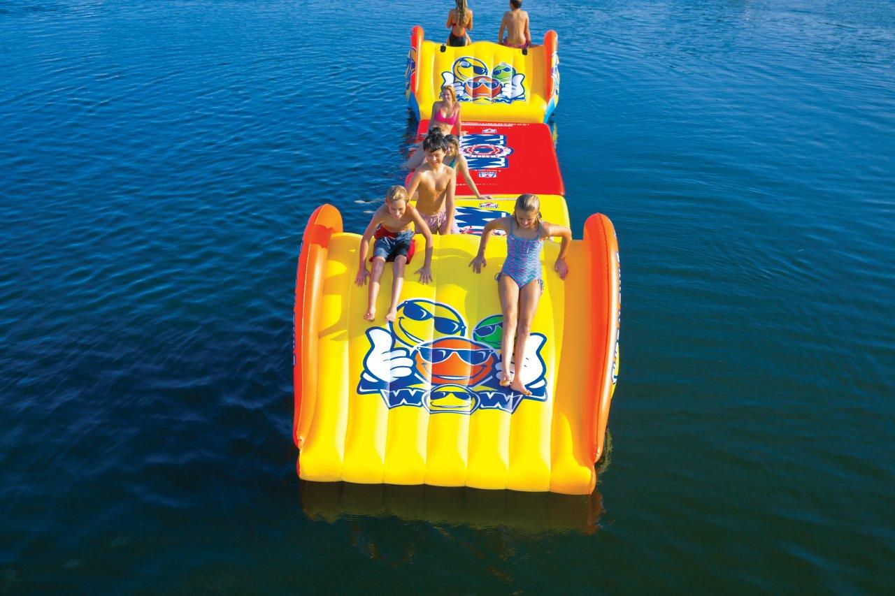 WoW Watersports 18-2000 Slide N Smile Floating 2 Lane Waterslide, 9 Feet Long by WoW Sports (Image #6)