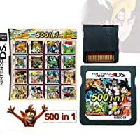 500 in 1 Game Cartridge, DS Game Pack Card Compilations, Super Combo Multicart for Nintendo DS, NDSL, NDSi, NDSi LL/XL, 3DS, 3DSLL/XL, New 3DS, New 3DS LL/XL, 2DS, New 2DS LL/XL