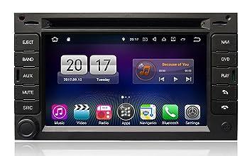 RoverOne Android 7.1 sistema de 6.2 pulgadas doble Din en el tablero del coche GPS Navi ...
