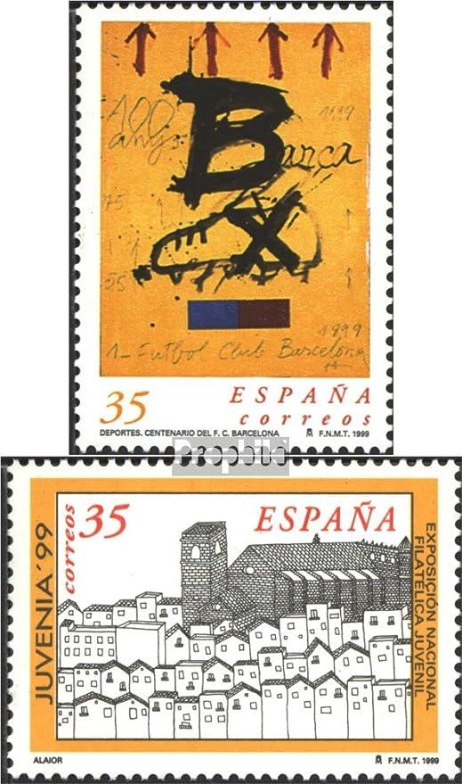Prophila Collection España Michel.-No..: 3456,3457 (Completa.edición.) 1999 Fútbol, Sellos (Sellos para los coleccionistas) fútbol: Amazon.es: Juguetes y juegos