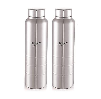 fb1f9ad2d03b Sizzle New Design Unbreakable Stainless Steel Leak Proof Fridge Water  Bottle, 2 pc, 750 ml, Silver
